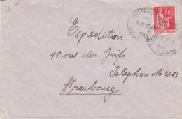 Env Affr Y&T 283 Obl WITTELSHEIM Du 22.1.1936 - Cachet Autoplan - Marcophilie (Lettres)