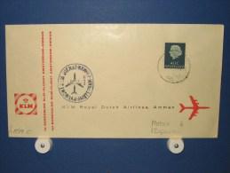 FFC First Flight 166 Amsterdam - Amman Jordanië 1960 - A544c (nr.Cat DVH) - Jordanië