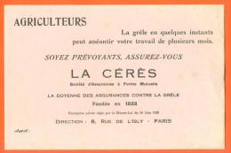 Buvard Agriculteurs , Assurez Vous - La Cerès - Agriculture