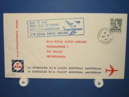 FFC First Flight 174 Montreal Canada - Amsterdam 1960 - A548 (nr.Cat DVH) - Eerste Vluchten
