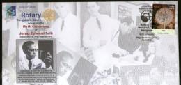 India 2015 Polio Vaccine Discoverer Dr. Jonas Edward Salk Rotary Club Health KARNAPEX Bangalore Special Cover # 18259A - Rotary, Club Leones