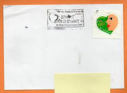 MAURY N° 3277 COEUR YVES SAINT LAURENT      Lettre Entière N°  H 694 - Marcophilie (Lettres)