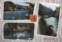 09 Ariege Ax Les Thermes Le Village D´orgeix L´oriége Le Lac - Ax Les Thermes