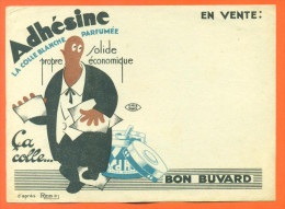"Buvard Ancien  ""  Adhesine  ""  N° 1 - Mlle Jullien à Chaumont - Papeterie"