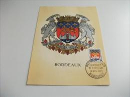 MAXIMUM Cartolina Postale Carte Postale FRANCESE ARALDICA BORDEAUX - Cartoline Maximum