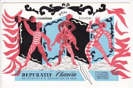 Buvard Dépuratif CHAUVIN Cracheur De Feu Haltérophile Cirque Théatre De Rue - Illustré Hanes Nanes ?? - Chemist's