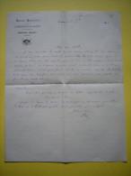Lettre à Entête Casino Municipal De Lamalou Les Bains Hérault 1895 Amédée Blanc Directeur - Manuscrits