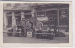 (top)cpa/carte photo-41-vendome-magasins Beauclair, Delvalat,place de la republique-personnages ,voitures