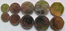Samoa set of 5 coins 2006 ( 5+10+20+50 Sene+1 Tala) UNC