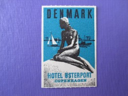 HOTEL HOTELLI HOTELL MINI LOKKEN MISSION COPENHAGEN DANMARK DECAL LUGGAGE LABEL ETIQUETTE AUFKLEBER - Hotel Labels