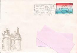 37 -  Flamme De LANGEAIS Sur Enveloppe Illustrée De Langeais - Marcofilie (Brieven)