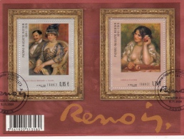 Bloc-feuillet Pierre-Auguste Renoir, Gabriellke à La Rose & Berrnheim De Villers, Obl. Luxe 2009 - Used Stamps