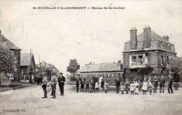 76 St-NICOLAS D' ALIERMONT ( Seine Maritime )  Route De St-Aubin . - France
