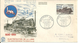 Lille 11 05 1955 La Ligne Valenciennes Thionville - FDC