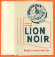 """Lot De 10 Buvards  """" Cirage Lion Noir  """" - Blotters"""