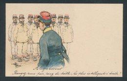 Künstler-Lithographie Albert Guillaume: Des Soldats Sind Zur Ausbildung Angetreten - Autres Illustrateurs
