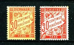 Taxe 34  - 30c rouge-orange - Neuf N** - Cote 1650 Eur - Tr�s beau - RARE !!