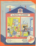 """Lot De 5 Protèges Cahiers  """"  La Famille Flambo """" Produits Flambo Au Dos - Protège-cahiers"""