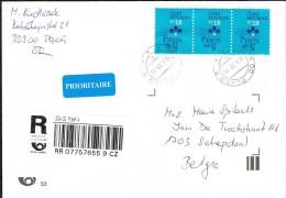 Czech Republic 2015 Postal Cover Prague - Schepdaal (Belgium) Prague 2008 - Czech Republic