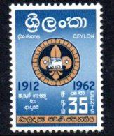 Ceylon 1962 Ceylon Boy Scouts, Hinged Mint (D) - Sri Lanka (Ceylon) (1948-...)