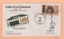 Historic Preservation - Centennial Of San Francisco Cable Cars [#1347] - Event Covers
