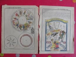 Découpage Animé à Construire. Calendrier Des Touts Petits 1932 - Documentos Antiguos