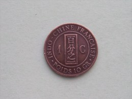 1885 - 1 Cent / Indo-Chine Française - KM 1 ( Uncleaned Coin / For Grade, Please See Photo ) !! - Colonies