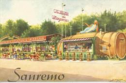 LA BOTTE DI DIOGENE  - San Remo - (pizzeria, gelateria, bar, tea room) - dessin MUSSO
