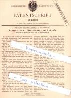 Original Patent - J. G. Erdel In Nürnberg , 1882 , Federhalter Mit Wasserwaage Und Kompaß !!! - Schreibgerät