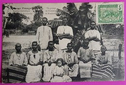 Cpa N°99 Congo Un Groupe De Chrétiens De Brazzaville Carte Postale 1906 Mission Catholique Afrique Gros Plan - Brazzaville