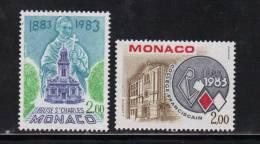 Monaco Timbres De 1983  Neufs** N°1368/69 - Nuovi