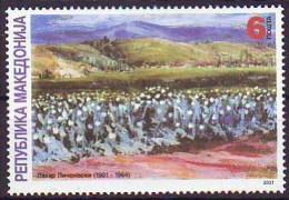 Macedonia 2001 Art, Paintings, Lazar Licenovski, Painter, MNH - Macédoine