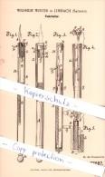 Original Patent - Wilhelm Winter In Limbach , Sachsen , 1894 , Federhalter !!! - Schreibgerät