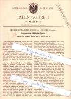 Original Patent - G. Guillaume Andre In Dorking , England , 1882 , Neuerungen An Elektrischen Lampen !!! - Surrey