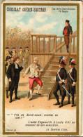 Chromo CHOCOLAT GUERIN-BOUTRON - Les Mots Historiques- L´abbé Edgeworth à Louis XVI - Guérin-Boutron