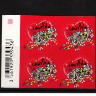 Saint-Valentin   2010   Coeur De LANVIN   Autoadhésif  0.56 € En Bloc De 4 - France