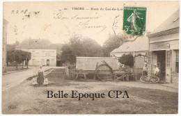 41 - THORÉ - Route Du Gué-du-Loir / CHARRONS +++ ELD, #12 +++ Vers Tours, 1908 +++++ RARE - Altri Comuni