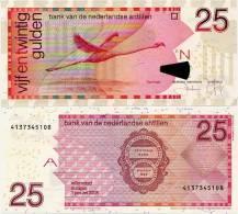 NETHERLANDS ANTILLES      25 Gulden      P-29e      1.1.2008       UNC - Netherlands Antilles (...-1986)