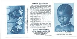 Calendrier De Poche 1959 , Oeuvre Pontificale De La Sainte Enfance -TANGANYIKA NDANDA Coréee Séoul Biberon Ou Riz - Calendars