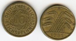 Allemagne Germany 10 Reichspfennig 1935 A J 317 KM 40