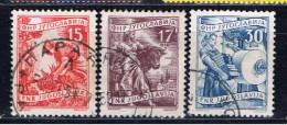 YU+ Jugoslawien 1951 1955 Mi 681 684 760 Wirtschaft - 1945-1992 Sozialistische Föderative Republik Jugoslawien