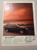 ADVERTISING PUBBLICITA´ NUOVA VOLKSWAGEN GOLF - MA E' UN DIESEL?   -- 1996  -  OTTIMO - Werbung