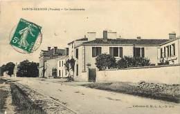 Ref E536- Vendée -  Sainte Hermine - Ste Hermine - La Gendarmerie - Theme Gendarmeries   - Carte Bon Etat - - Sainte Hermine