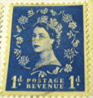 Great Britain 1952 Queen Elizabeth II 1d - Used - 1952-.... (Elizabeth II)