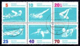 DDR - Bloc De 6 N° 620/25, Championnats D'Europe De Natation à Leipzig. Brasse, Water Polo, Plongeon... - [6] République Démocratique
