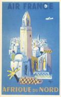 Ref E363 - Publicite - Theme Transport - Aviation - Publicite Affiche Air France - Afrique Du Nord - Carte Bon Etat - - Publicité