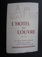 HÔTEL DU LOUVRE (M1505) AVIGNON (2 Vues) 23, Rue Saint-Agricol - Sports & Tourisme