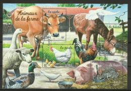 Animaux De La Ferme. Un Bloc-feuillet De France, Oblitéré, Première Qualité, Yv. Nr 69 - Agriculture