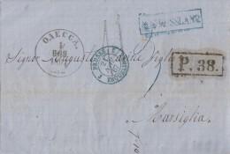 Brief Von Odessa Vom 1.11.1867 Gel. Nach Marsiglia (Frankreich) Mit Stempel Von Russland, Bpst. - 1857-1916 Imperium