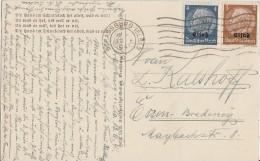 Elsass Karte Mif Minr.1,2 Strassburg - Besetzungen 1938-45